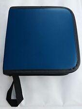 42 CD/DVD Carry Case Disc Storage Holder CD Sleeves Wallet Ideal for Car BLUE