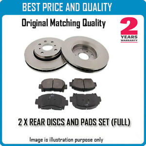 REAR BRKE DISCS AND PADS FOR ALFA ROMEO OEM QUALITY 26951260