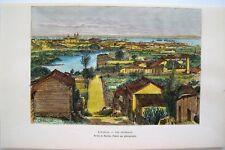 Antique Print: Cuba: West Indies: Wood Engraved Print by E. Reclus: Paris, 1885
