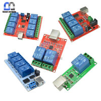 5/10/12V 1/2/4/8 Channels USB Relay Programmable Computer Control For Smart Home