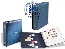 Leuchtturm MÜNZALBUM NUMIS in Blau  für Euro Münzen inkl.7Hüllen