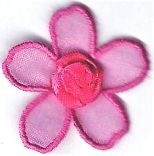 "1.25"" Pink Fuchsia Rosette Flower patch"