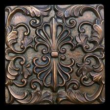 Elegant Decorative Kitchen Backsplash Tile in Dark Bronze finish Wall sculpture