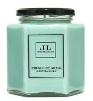 Fresh Cut Grass Scented Candles, Strong Fresh Soy Wax Vegan Candles