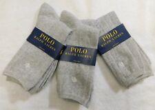 L4 - Polo Ralph Lauren Gray ( 3 Pair ) Women's Drop Needle Ribbed Socks
