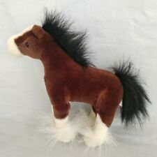 """Gund DALE Clydesdale horse brown and white plush stuffed animal toy 11"""""""