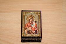 Russische Lackdose kleine Schatulle Handarbeit Religion neu
