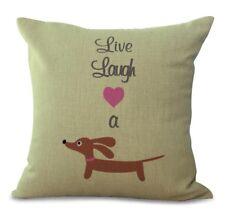 Cute  Sausage Dog Cushion Cushion Cover Size 18' X18'