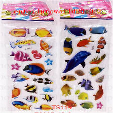 2Pcs 3D Dolphin scrapbooking sticker teacher reward stickers lot kids party gift