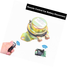 Car Wireless Remote Control Battery Switch Disconnect Latching Relay Anti-theft,