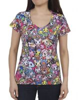 NEW Tokidoki Camo Carina Grey Junior Women Tee T-shirt WBTE06160 US Seller
