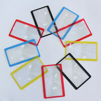 Credit Card Size Magnifier Magnifying  Fresnel Lens Pocket Wallet Reading 3X FO