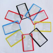 Credit Card Size Magnifier 3x Magnifying Fresnel Lens Pocket Wallet Reading BH
