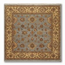 """6' x 6'2"""" Square Hand Knotted 100% Wool Agra Oriental Area Rug Blue"""