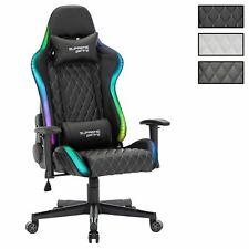 Chaise de bureau gamer avec LED fauteuil gaming en synthétique