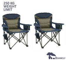 2 x BEARWOLF Portable Premium Folding Oversized Camping Picnic Chair