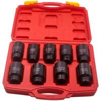 """1/2"""" Drive Deep Impact Axle Hub Nut Socket Set 29mm 30mm 31mm 32mm-38mm Sockets"""