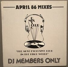 APRIL 86 MIXES DISCO MIX CLUB DMC DJ MEMBERS ONLY UK VINYL