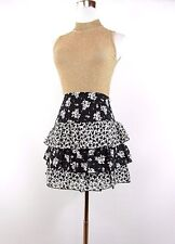Women's C&A Designer Skirt Size S Casual Floral Ruffle Frill Layer Sexy BI69