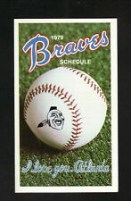 Atlanta Braves--1979 Pocket Schedule--Armor All