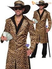 Forum Novelties 78886 Funky Leopard Pimp Jacket and Hat Chest Size 42 -
