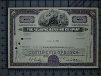 1966 The Atlantic Refining Company Stock Certificate 100 Shares
