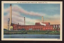Postcard PANAMA CITY FL Paper Plant View 1930's