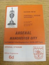 23/09/1967 Arsenal v Manchester City  (Crease, Fold). Any faults are noted in br