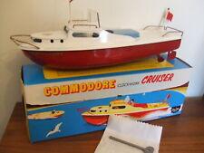 1970's Sutcliffe Commodore Tinplate Clockwork Boat Excellent Cond.