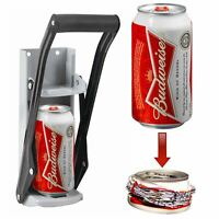 16oz 500ml Tin Can Crusher Wall Mounted Large Beer Bottle Opener Recycling Tool