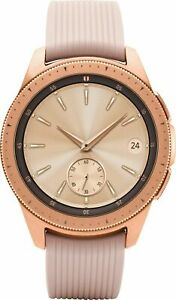 Samsung Galaxy 42mm R-815 Smartwatch Stainless Steel Case (Rose Gold Leather)