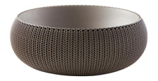 """Multi-Functional Knit Cozie 21.3"""" Dia Harvest Brown Large Resin Planter Stylish"""