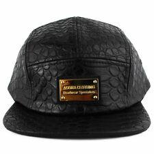 Agora Full Snakeskin 5 Panel Camp Cap hat snapback hater NEW