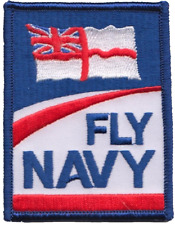 'Fly Navy' Royal Navy RN Fleet Air Arm FAA Ensign Logo MOD Embroidered Patch