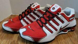 Nike Shox NZ Womens Sz 8.5 Red White Black [311137-163] Running Athletic Shoes