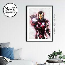 Iron Man Poster, Avengers Endgame Graffiti Wall Art, Giclee Quality Superheroes