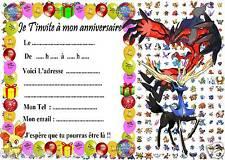 5 cartes invitation anniversaire  Pokemon X & Y  031  d'autres en vente !!