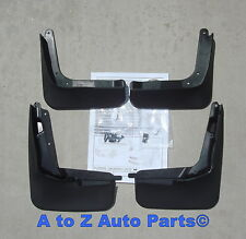 2013-2017 Ford Fusion Black Molded Front/Rear Splash Guards,COMPLETE SET,OEM