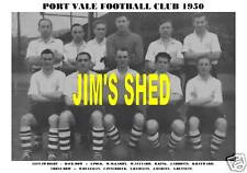 PORT VALE F.C.TEAM PRINT 1950 (McGARRY/HAMLETT/POLK)