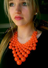 KATE SPADE RARE DOTZ BIB HUGE SPHERE NECKLACE EARRINGS SET CORAL INCREDIBLE!
