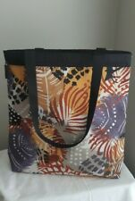 LARGE VERA BRADLEY painted feathers nylon tote bag abstract paint RETIRED