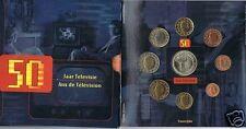 manueduc  BELGICA  2003 CARTERA OFICIAL FDC MAS MEDALLA  50 Años TV