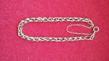 Gourmette Bracelet Ancienne Or 18 Carats Ancienne  5,1grammes chaîne de sécurité