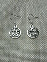 'Supernatural' Pentagram Drop/Dangle Earrings.. With a FREE sparkly gift bag..