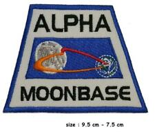 Space 1999 ALPHA MOONBASE Orbit Logo  Embroidered Iron / sew on PATCH Nasa