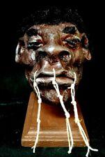 MUMMIFIED PYGMY MAN HEAD DISPLAY,SIDESHOW GAFF PROP,FREAK,CURIO CABINET,ODDITY,