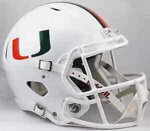 MIAMI HURRICANES NCAA Riddell SPEED Full Size Replica Football Helmet