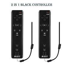 2Pack 2 IN 1 Built in Motion Plus Remote Controller For Nintendo Wii Games New