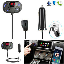 New Mini Bluetooth Handsfree Car Kit Fm Transmitter Radio Mp3 Player Usb Charger