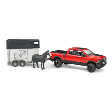 Bruder Toys RAM 2500 Power Wagon Pickup Truck Toy with Horse Trailer and Horse